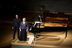 Angelika Nebel und Wagner Prado, Konzert im Partika Saal der Robert Schumann Hochschule Düsseldorf, 2015