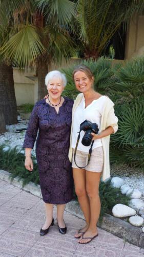 Angelika Nebel mit Ilona Antoni beim Fotoshooting auf Mallorca 2016